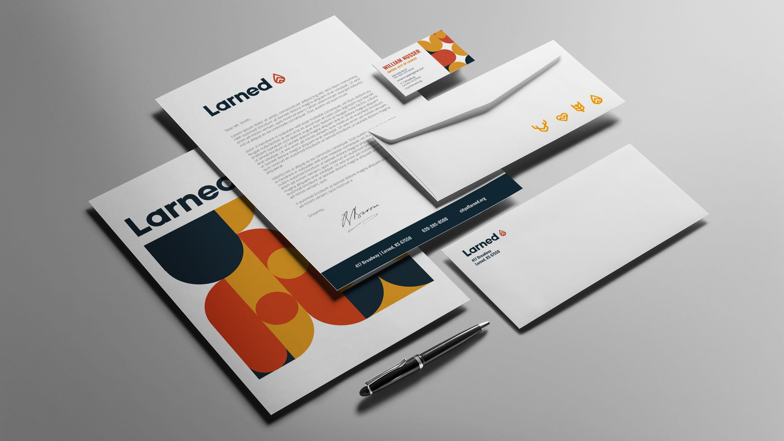 Larned Kansas Stationery