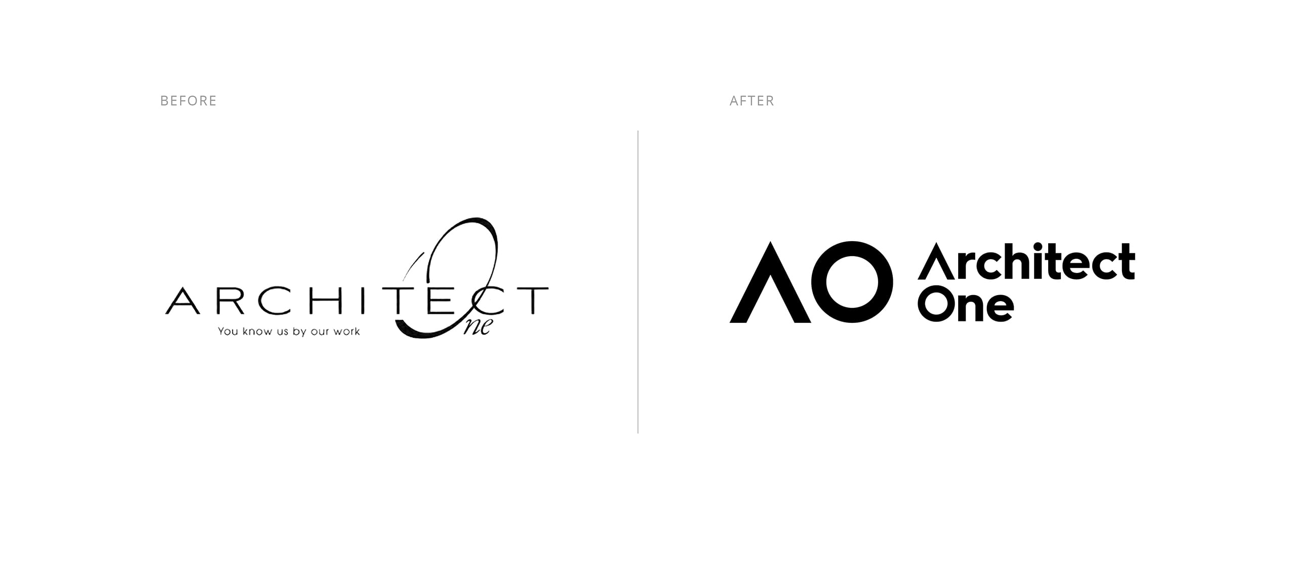 Architect One Logo Before and After